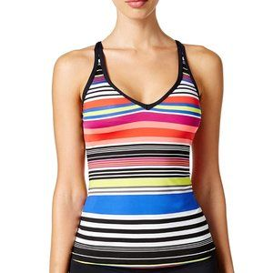 NWT JAG Reactive Stripe Crisscross Back Tankini